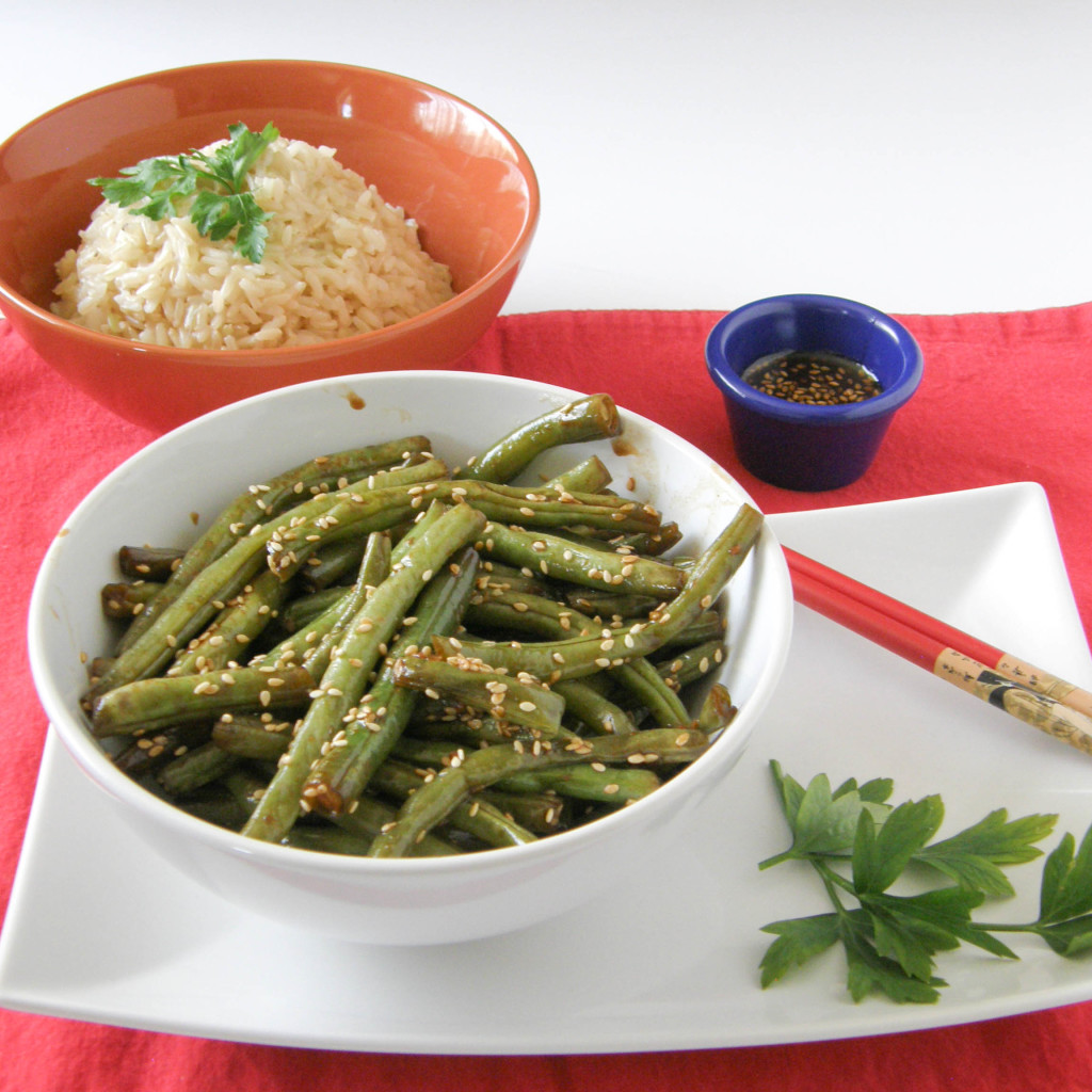 Asian Inspired Green Beans in a Balsamic Reduction Sauce