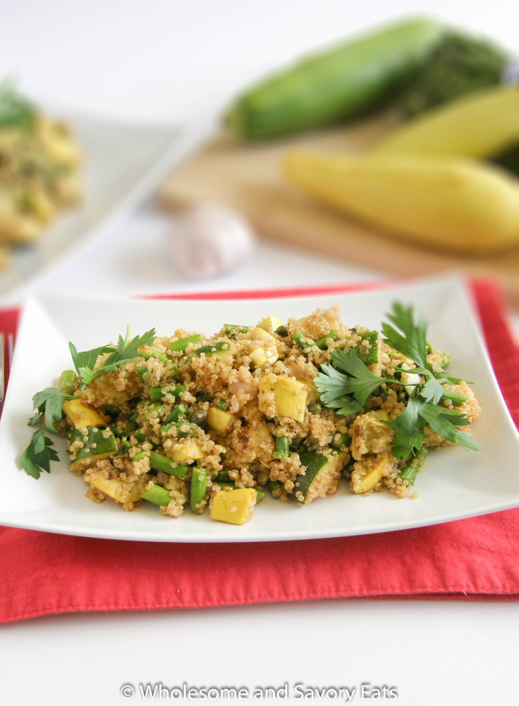 Quinoa Salad with Grilled Summer Vegetables
